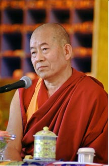Khench Pema Sherab at the US retreat center
